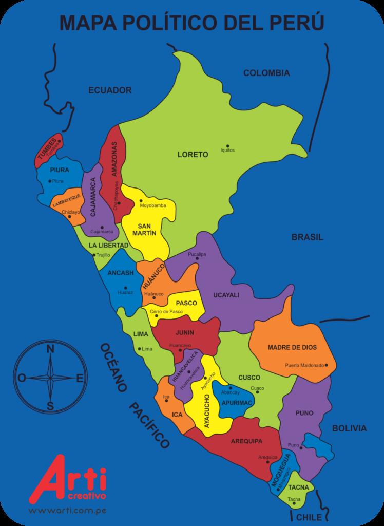 mapa politico Mapa Político del Perú – Arti Creativo mapa politico